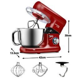 1500W Stand Mixer Kitchen Food Mixer 6 Speed 5.5L Mixing Bowl Beater Dough Hook