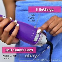 2in1 Brush Dryer One Step Hair Straightening Blow Dryer (Purple) Hot/Cold
