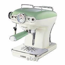 Ariete Dome Kettle, 2 Slice Toaster and Espresso Machine Set, Vintage Green