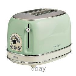 Ariete Retro Style 1.7L Jug Kettle, 2 Slice Toaster & Espresso Machine, Green