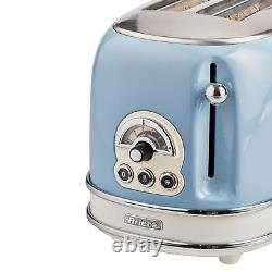 Ariete Retro Style 1.7L Jug Kettle, 2 Slice Toaster & Filter Coffee Machine, Blue