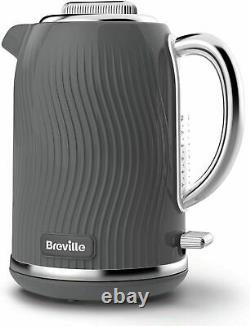 BREVILLE Electric Kettle 4-Slice Toaster Grey & Vytronix Digital Microwave Set