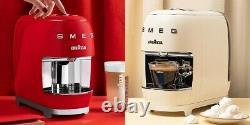 BUNDLE LAVAZZA Modo Mio SMEG Expresso Machine + 169 capsules BLACK CREAM RED