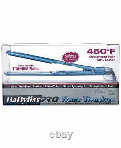 Babyliss Pro Nano Titanium 1 1/2 Ultra Thin Flat Iron Straightener #BABNT3073TN