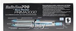 Babyliss Pro Nano Titanium Prima 3000 Flat Iron 1.25 with THERMAL GLOVE