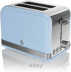 Blue Set Swan Microwave Jug Kettle Toaster Combo Cheap Deal Sale Retro Model