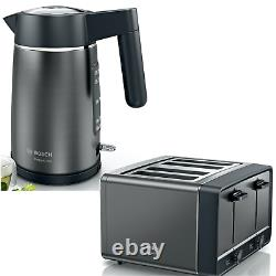 Bosch Kettle & 4 Slice Toaster Set in Anthracite 2 Year Warranty