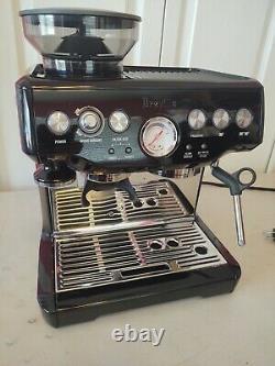 Breville Barista Sesame Espresso Cappucino Machine Grinder BES870BSXL 110V