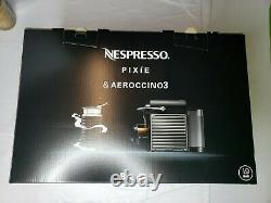 Breville-Nespresso USA BEC450TTN1AUC1 Pixie Espresso Machine Titan + Aeroccino 3