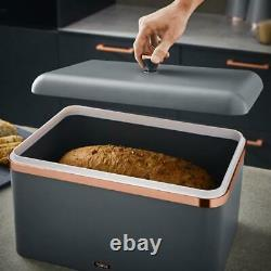 Cavaletto Kettle Toaster Bread Bin Canisters Mug Tree Towel Pole Grey/Rose Gold