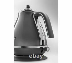 DELONGHI Icona Metallics KBOT3001. GY Electric Jug Kettle 1.7L Grey Currys