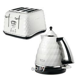 De'Longhi Brillante Kettle and Toaster Set White 4 Slice Sale Cheap Deal Buy