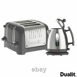 Dualit Lite Kettle & 4 Slot Slice Toaster Set Grey 10126 BRAND NEW