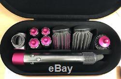 Dyson Airwrap Complete Multi Hair Styler 9 Accessory Set (Nickel/Fuschia) B+