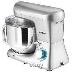 Electric Stand Mixer 6 Adjustable Speeds Kitchen Mixer with Hook Beater & 7L Bowl