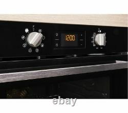 INDESIT Aria IFW 6340 BL Electric Oven Black Currys