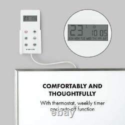 Infrared Heater Space Panel Electric Heating Wall 30 x 100cm 300W Timer White