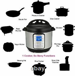 Instant Pot Duo Plus 80, 8L 9 in 1 Multi use Pressure Cooker 220v Slow Cooker