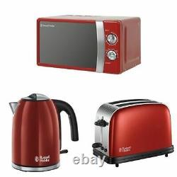 Microwave Kettle Toaster Set Manual Sale Russell Hobbs Cheap Red Buy RHMM701R