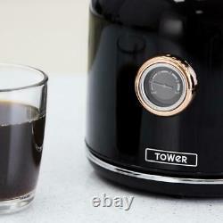 NEW Bottega Kettle & 4 Slice Toaster Set Black & Rose Gold. 3 Year Guarantee