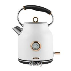 NEW Rose Gold & White Kettle & 4 Slice Toaster Matching Set Rapid / Quiet Boil