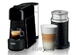 Nespresso Essenza Plus Machine with Aeroccino by DeLonghi EN200BAE Black New