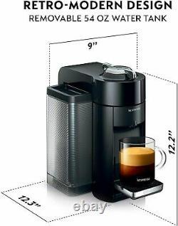 Nespresso Vertuo Coffee / Espresso Machine + Aeroccino3 Frother BLACK ENV135BAE