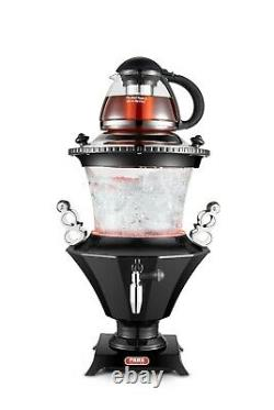 New Electric Glass Samovar, Persian Turkish Russian Tea Maker with Glass Teapot
