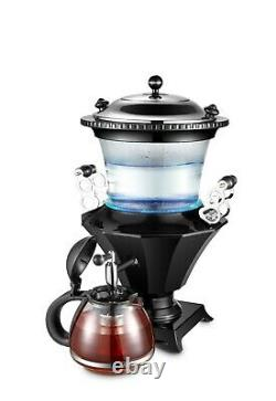 New Electric Glass Samovar, Persian Turkish Russian Tea Maker with Glass Teapot