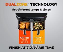 Ninja Foodi 4 In 1 Air Fryer, Dual Basket Cooker, Digital DualZone Technology