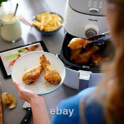 Philips HD9721/21 1500W Airfryer Rapid Low Fat Oil Free Air Fryer Cooker White