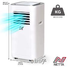 Portable Air Conditioner 8000BTU, Dehumidifier, Cooling Fan, Remote, Grade A