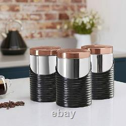 Rose Gold Tower 11-Piece Set Microwave Kettle Toaster Bread Bin Roll Holder
