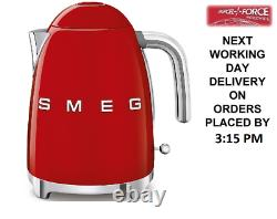 SMEG KLF03RDUK Red Electric Kettle Cordless 1.7L Retro 50's 2 Year Guarantee