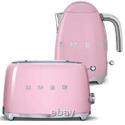SMEG Retro Pink Kettle & 2 Slice Toaster KLF03PKUK & TSF01PKUK (Brand New)