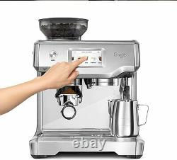 Sage Barista Touch Bean to Cup Espresso Coffee Machine, Stainless Steel with LCD