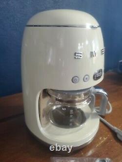 Smeg 50's Retro Style Aesthetic Drip Filter Coffee Machine, Cream
