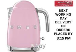 Smeg KLF03PKUK Pink 50's Retro Style 3Kw 1.7L Kettle + 2 Year Warranty (New)