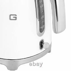 Smeg KLF03WHUK 50's Retro White Kettle Limescale Filter 3000 Watt