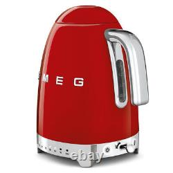 Smeg KLF04RDUK Red Retro 50's Style Kettle With Variable Temperature 1.7L NEW