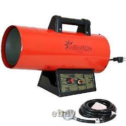 Sunnydaze 40,000 BTU Forced Air Propane Heater Overheat Auto-Shutoff