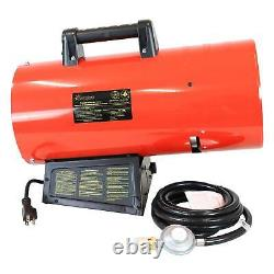 Sunnydaze 85,000 BTU Forced Air Propane Heater Overheat Auto-Shutoff