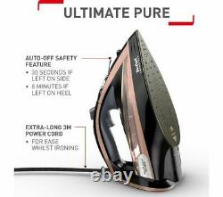 TEFAL Ultimate Pure FV9845 Steam Iron Black & Rose Gold Currys