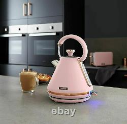 Tower Cavaletto 1.7L 3KW Pink & Rose Gold Pyramid Kettle T10044PNK -Brand New
