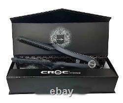 Turboion Croc Classic Black Titanium 1.5 Digital Flat Iron Hair Straightener