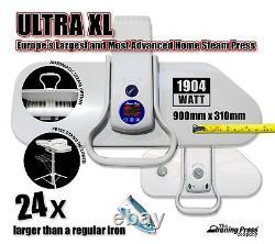 Ultra XL Steam Iron Press (90cm 2,200w) Including Press Stand, Auto Steam