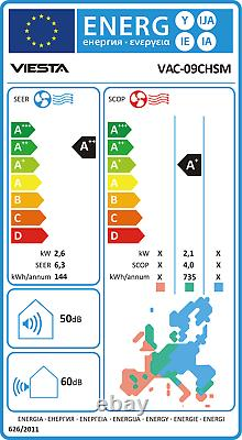VIESTA 09SM split air conditioner 2.6kW 9000BTU air-conditioning system A++ R32