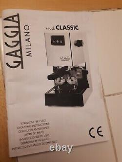 Working Gaggia Classic S8 espresso coffee machine needs service